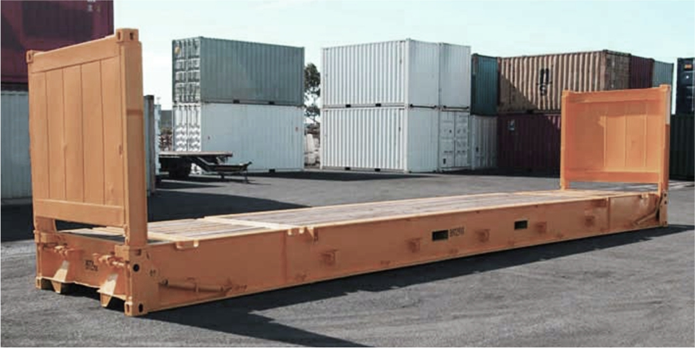 Flat rack containers
