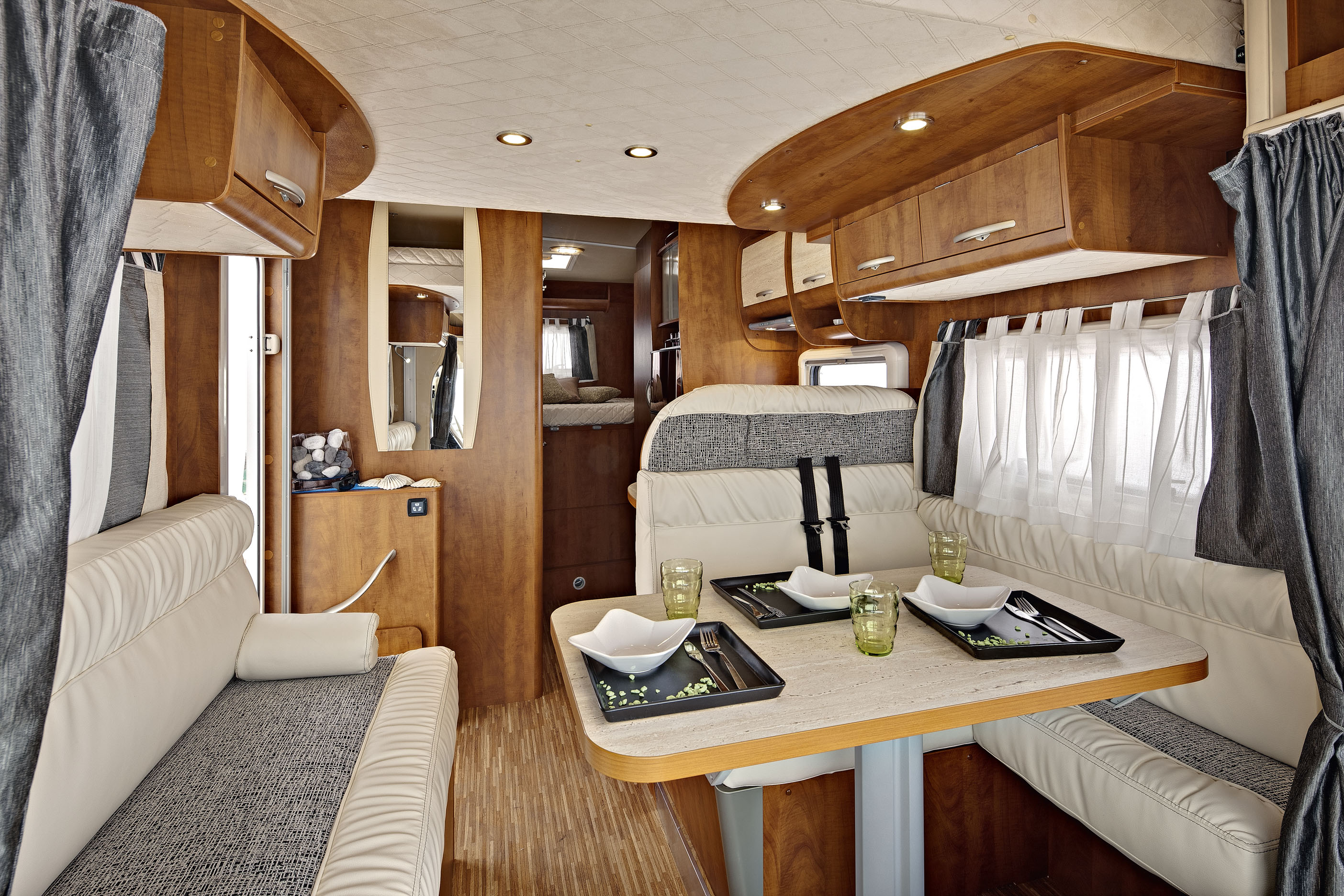 Inner view of motorhome.