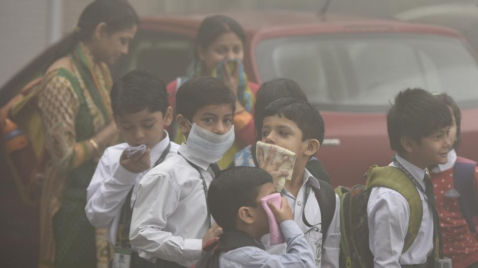 pollution affecting childrens in delhi