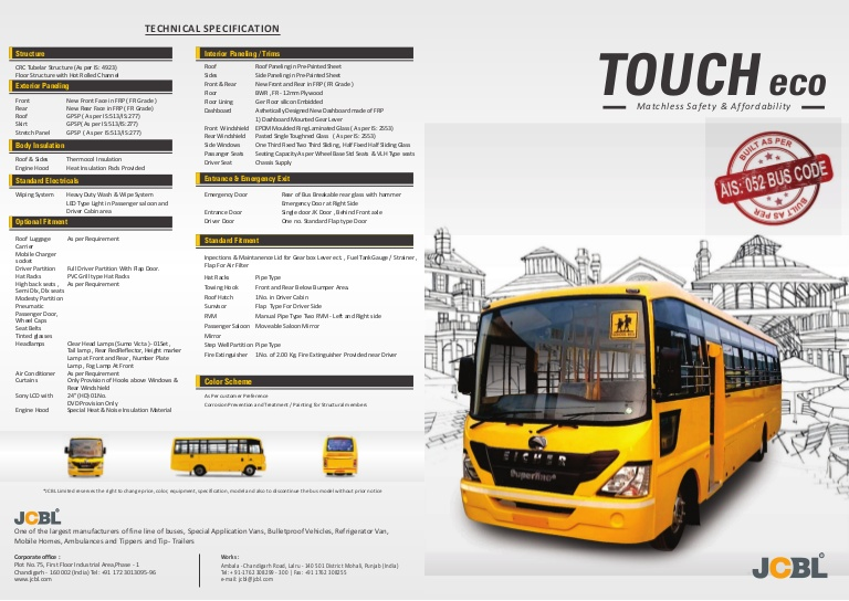 touch eco- jcbl bus