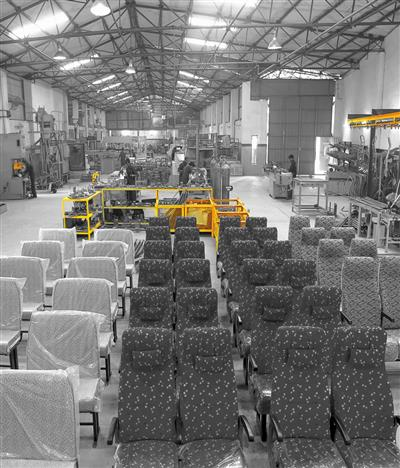 Bus seats in JCBL plant